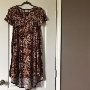 Leopard print, leggings material, t-shirt dress!